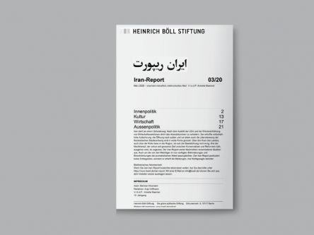 Iran-Report 03/20 Titlebild