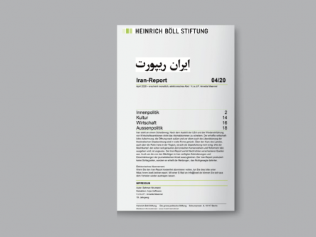 Iran-Report 04/20 Titlebild