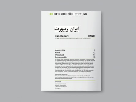 Iran-Report 07/20 Titlebild